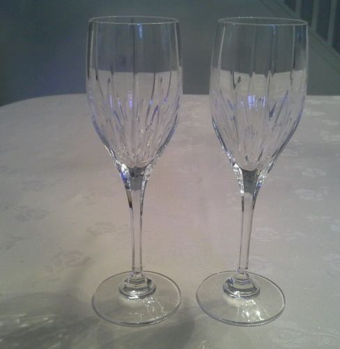 (4) Mikasa Crystal Arctic Lights White Wine Glass 7 5/8
