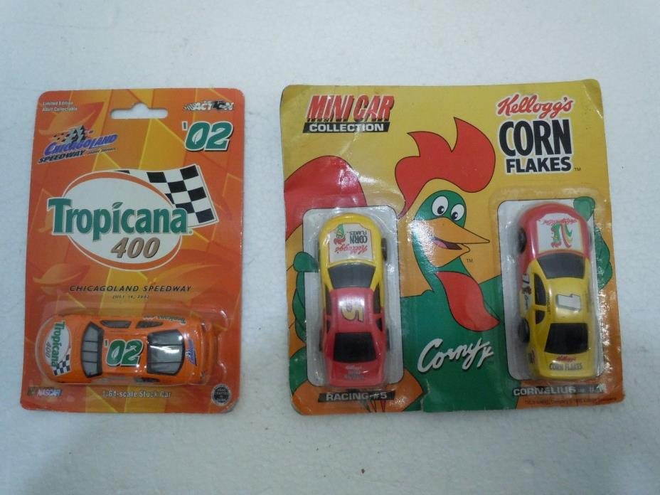 PROMOTIONAL RACE CAR 1:64 LOT 19?? Vtg MIP Corn Flakes Tropicana 400