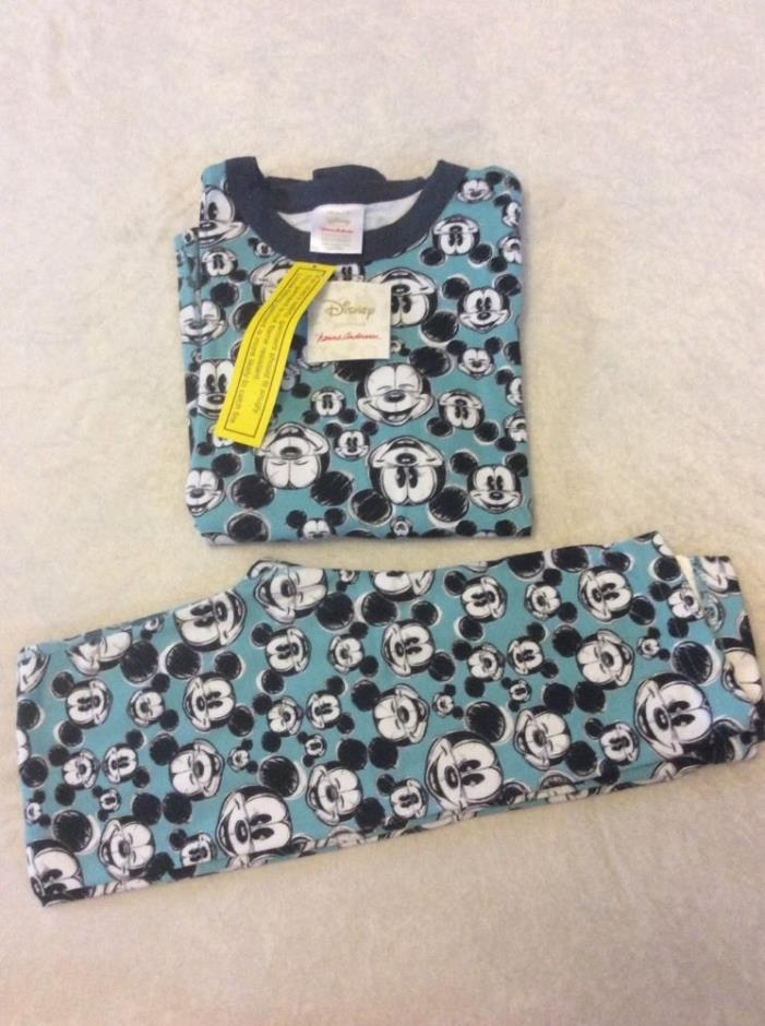 Mickey Mouse Hanna Andersson 150 Pajamas Set Long Johns Nwt