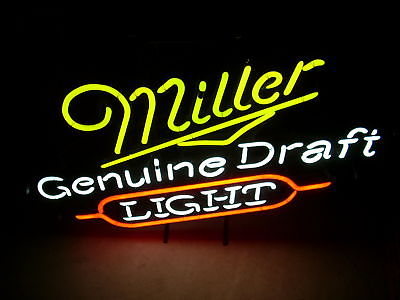 VINTAGE Miller Genuine Draft Light Neon 3-Colors-1991 25 Years Old