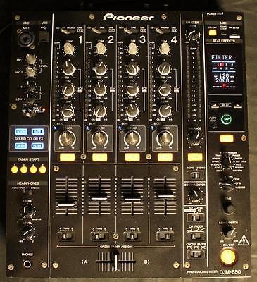 Pioneer DJM-850-K Black Professional DJ 4-Channel Digital Mixer - FREE S&H!
