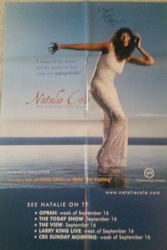 Natalie Cole signed promo poster in black sharpie Atlanta, Ga. 2009