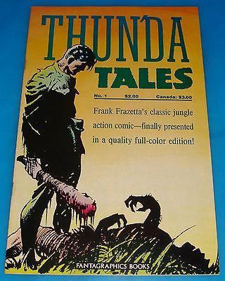 FRAZETTA ART! THUNDA TALES #1 VF-NM Fantagraphics 1987 Color Reprint