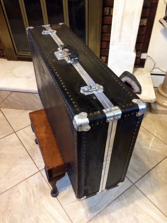 Vintage 1920s Luggage Trunk Wordrobe Bal Fibre Fifty William Bal Company NY