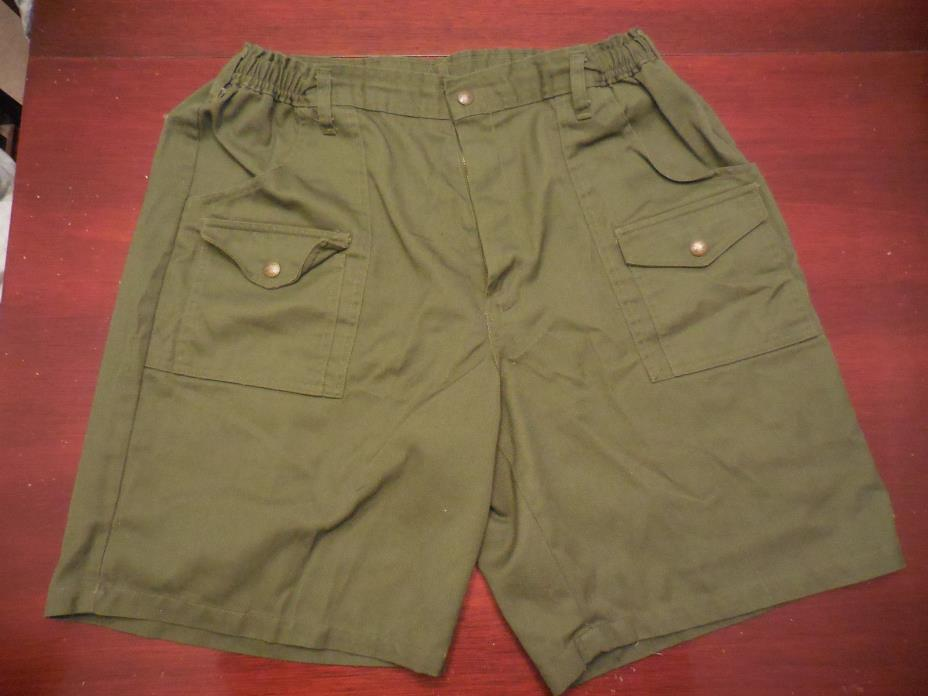 BSA Boy Scouts Of America Green Uniform Shorts Size 34