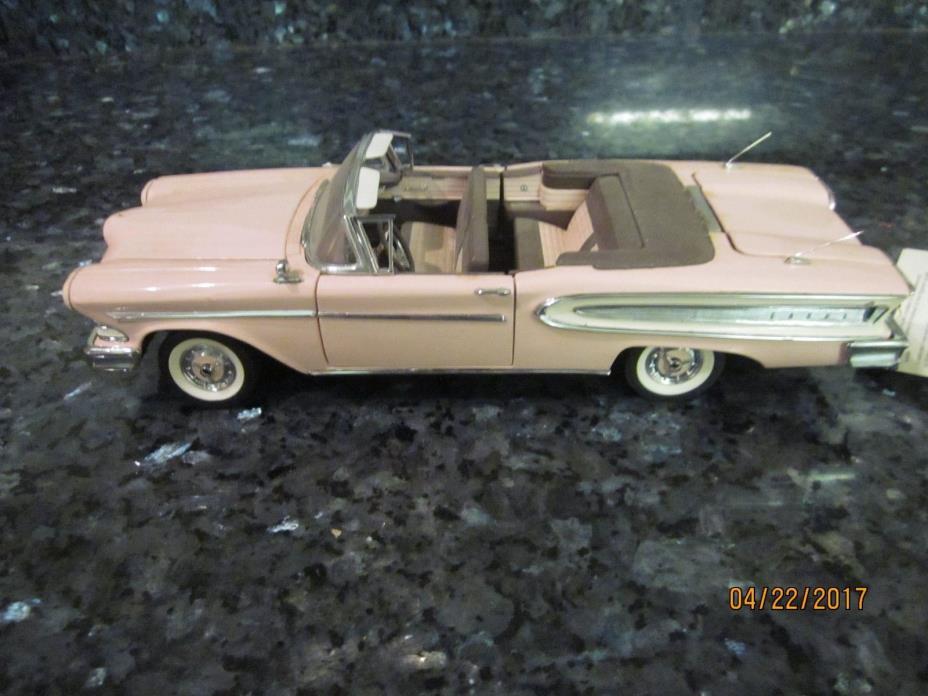 VINTAGE ISSUE DANBURY MINT PINK EDSEL CONVERTIBLE 1 24 DIE CAST SHOW CAR