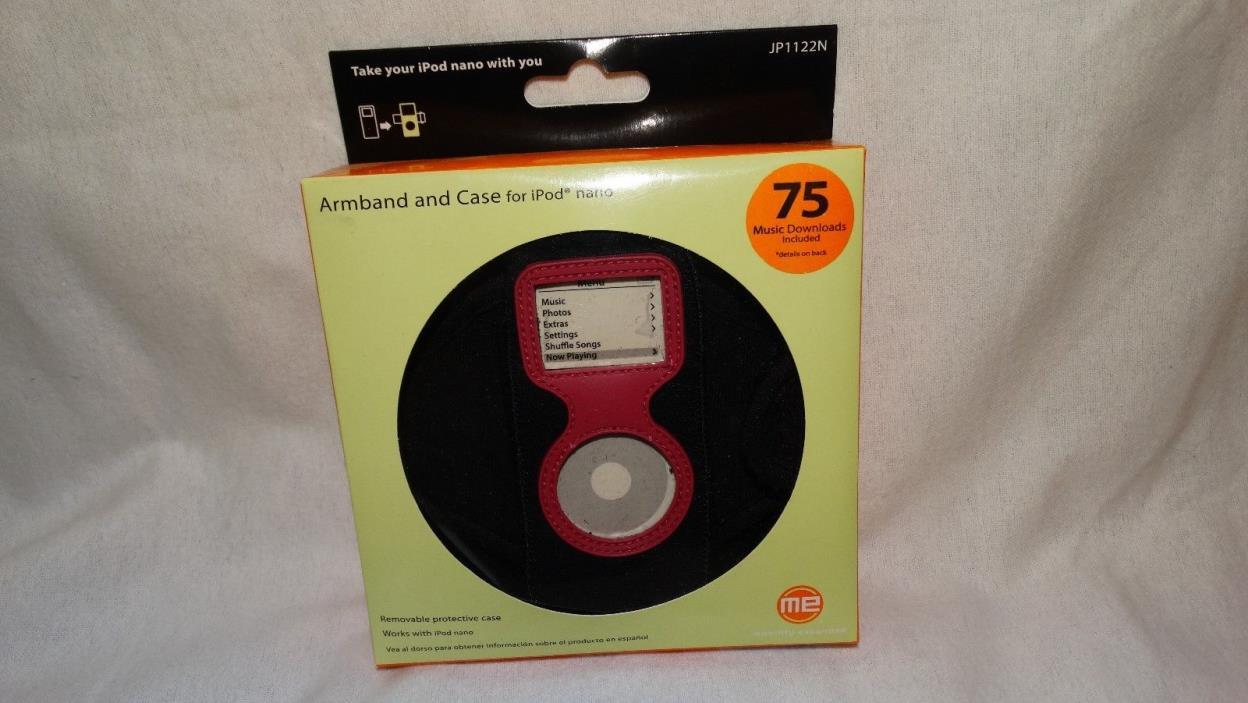 New Jensen Black Sport Armband & Case For Apple iPod Nano 1st & 2nd Gen JP1122N