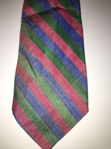 T. Shinawatra 100% Silk Hand Woven Striped Tie