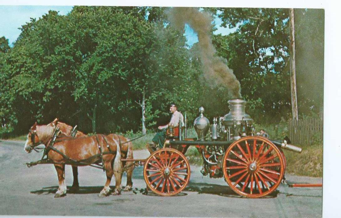 J. D. Hilliard Steamer No. 3 Fire Engine Postcard