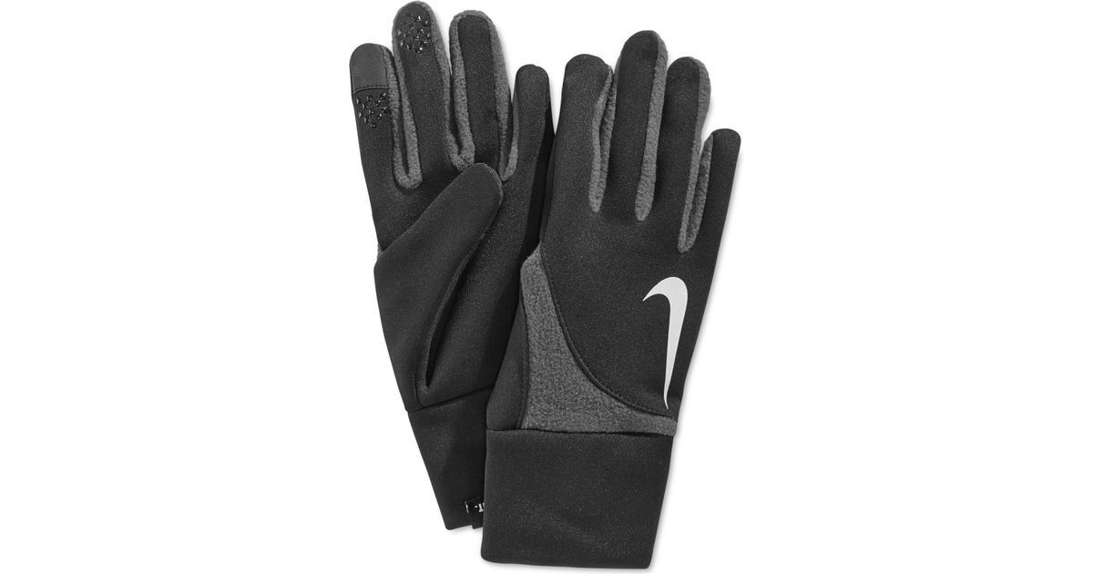 Nike Element Womens Thermal Run Gloves Black L $25 #4-298