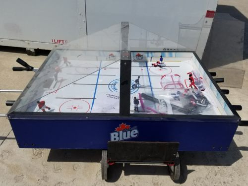 Bubble Dome Hockey Game on stand for parts Labatts Blue Arcade