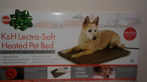 New sealed ! KH Lectro Soft Heated Pet Bed 19