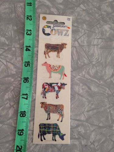 Sandylion Cowz Cows Stickers SIP 1 sheet Flags Pizza animal prints More