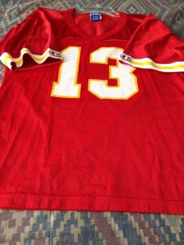 #13 Steve Bono Kansas City Chiefs Jersey Nfl Size Youth Xl Vintage By Champions