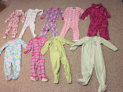 Large Lot 3T PJs Cotton Fleece Carters Disney Children's Place Gap Toddler Girl