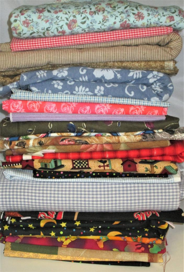 30+ Yards Quilting Sewing fabric lot unused NICE!