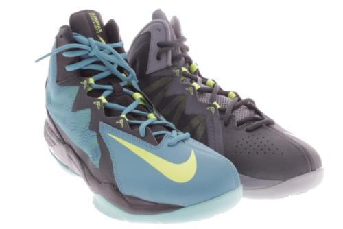 Mens Nike Cross Color Gray Teal Basketball Shoes 9.5 M
