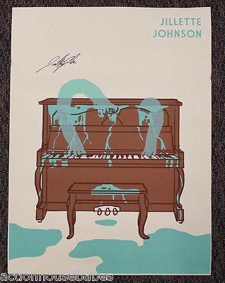 JILLETTE JOHNSON - Autographed Poster - SIGNED - RARE - AUTHENTIC - PROMO  24x18