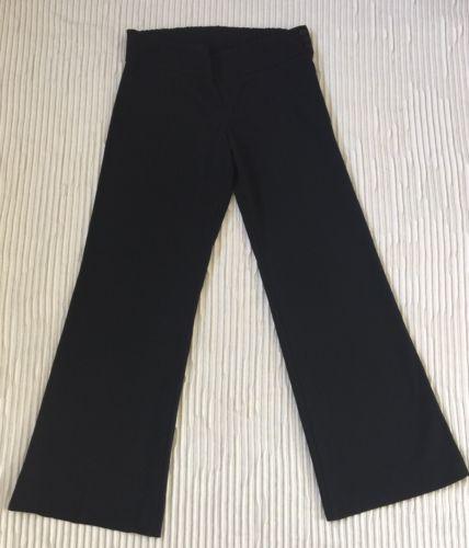 Pre-owned Stretchy Black MOTHERHOOD Maternity M Slacks Wideleg Pants Back Pocket