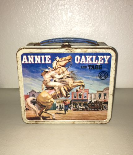 Vintage Annie Oakley (1955) Aladdin Metal Lunch Box.