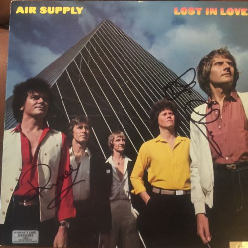 SIGNED GRAHAM RUSSELL RUSSELL HITCHCOCK AIR SUPPLY ALBUM 2 COA'S LIFETIME COA