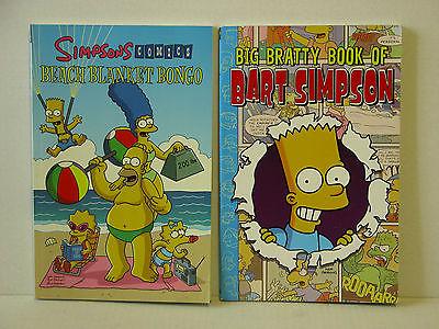 SIMPSONS:BEACH BLANKET BONGO + BIG BRATTY BOOK OF BART SIMPSON - FREE SHIPPING