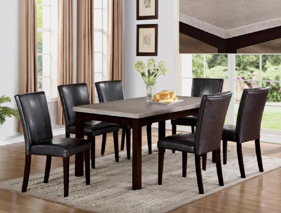 New seven piece dining set