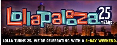 3 Lollapalooza 4 Day Passes/Tickets/Wristband Chicago 2017 Free Ship & Hotel Opp