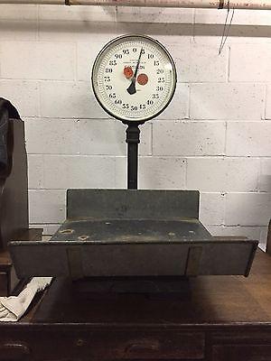Antique - Vintage Chatillon Cast Iron 100 LB Bench Top Scale