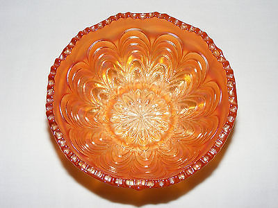 VINTAGE ANTIQUE 1920's CARNIVAL GLASS MARIGOLD IRIDESCENT ART DECO CANDY BOWL