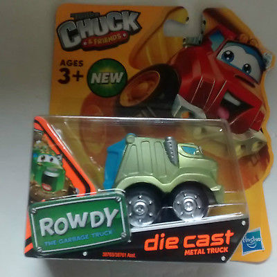 Hasbro Tonka Chuck &Friends ROWDY the Garbage Truck Die-Cast Metal Truck toy New