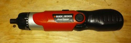 Black & Decker 9078 Pivot Cordless 3.6v Screwdriver. No Charger.