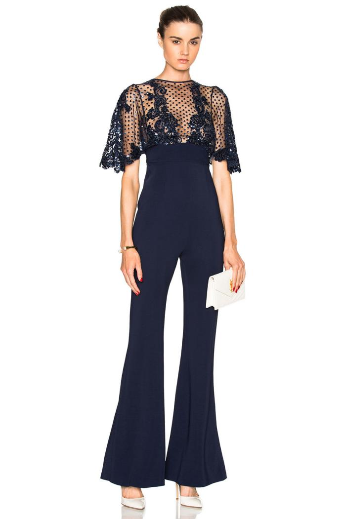 NWT Zuhair Murad Open Back Embellished  Jumpsuit 38/6