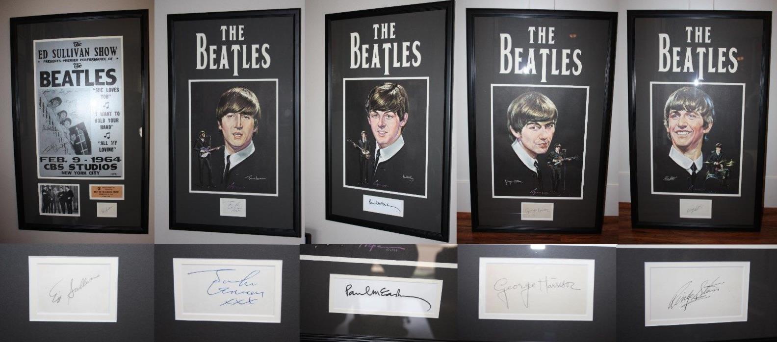The Beatles Signed Fab Four John, Paul, George, Ringo & Ed Sullivan JSA Letter
