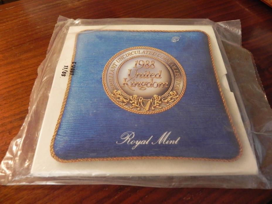 UK UNCIRCULATED BRILLIANT 7 COINS SET-1988,ROYAL MINT