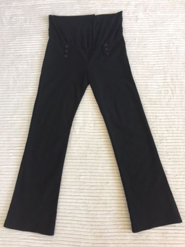 Pre-owned Stretchy Black VALIA Maternity XL Slacks Pants