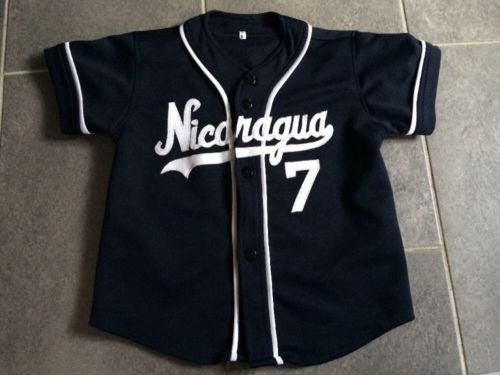 Youth Nicaragua Baseball Jersey Size: 6 Black