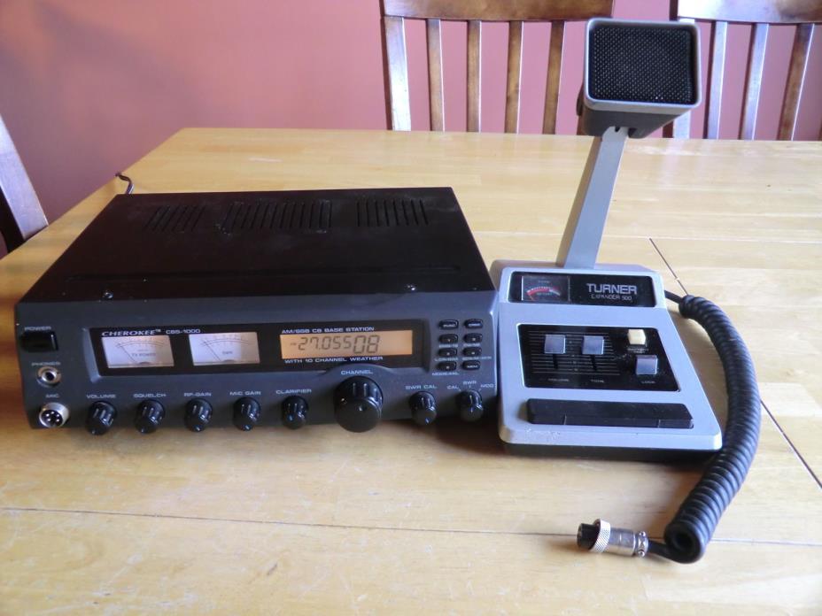 CB BASE RADIO CHEROKEE CBS 1000 W/ TURNER EXPANDER 500 MIC