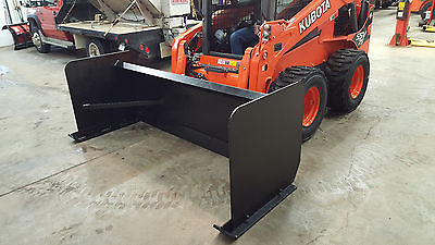 New 8ft  Skid Steer Snow Pushers, steel cutting edge
