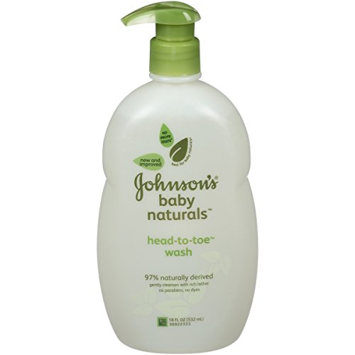 Johnson's Natural Head-To-Toe Foaming Baby Wash, 18 Ounce