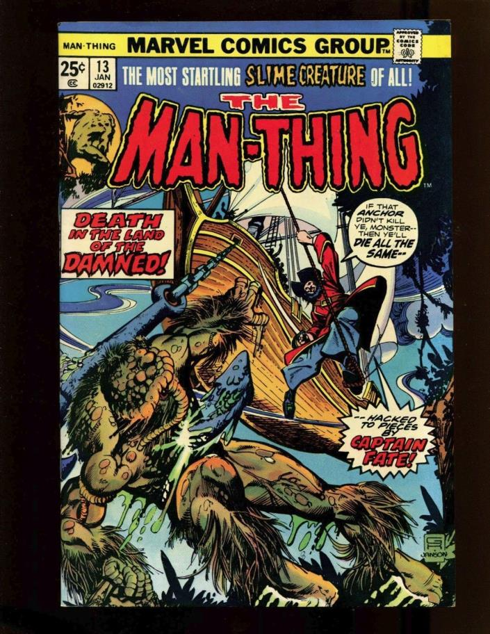 Man-Thing # 13 Captain Fate Marvel Comics 1st Series Bronze Age