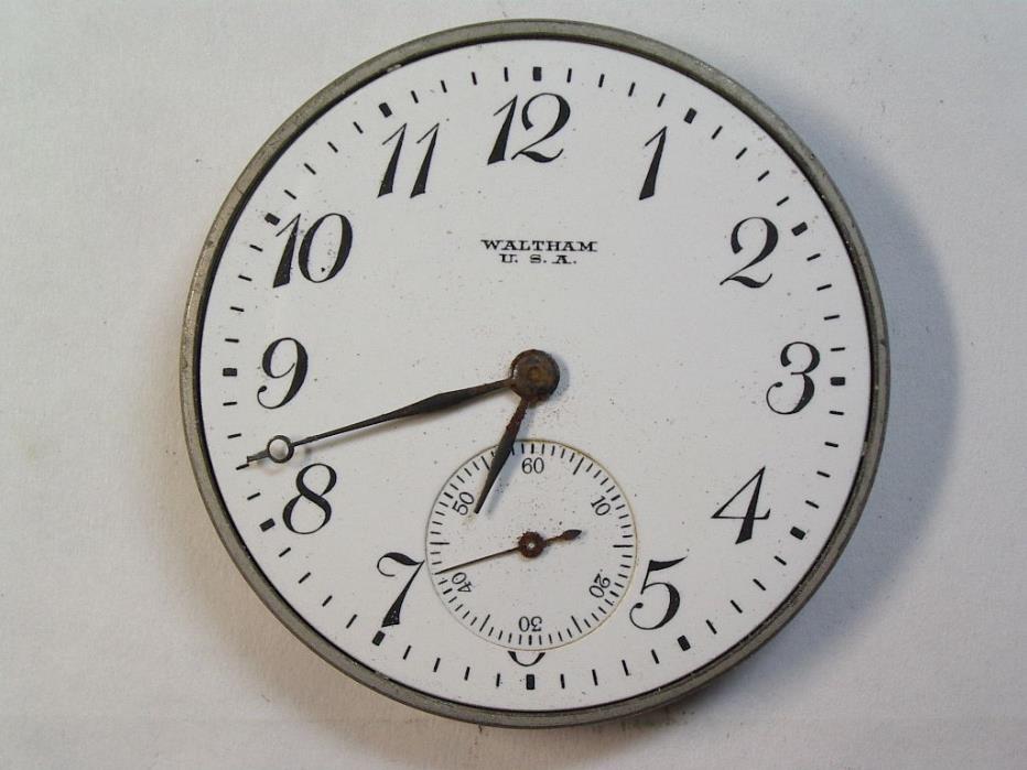 Antique Waltham 12 Size Watch Movement 17-jewel  Open Face Mvt.  M-50
