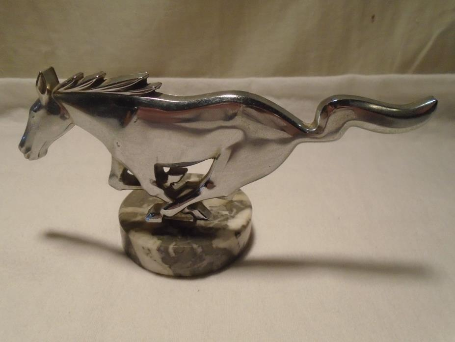 Vintage Ford Mustang Emblem on Marble Base Desktop / Paperweight