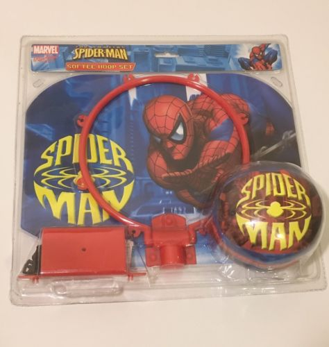 RAWLINGS Rare Softee Basketball Hoop Set Marvel SPIDERMAN Super HERO Toy NEW