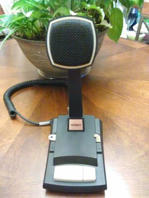 Astatic 1104c Destop Microphone  Same Great Sound As The Astatic 575m6 hand mic