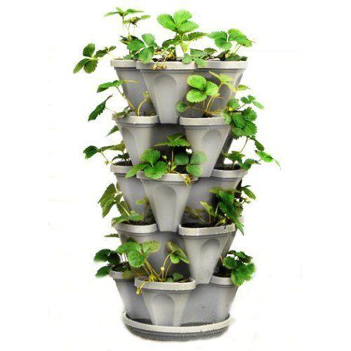 Indoor Vegetable Planter Stackable Flower Pot 5 Tier Outdoor Vertical Garden