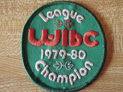 Vintage Embroidered Bowling Patch WIBC League Champion 1979-1980