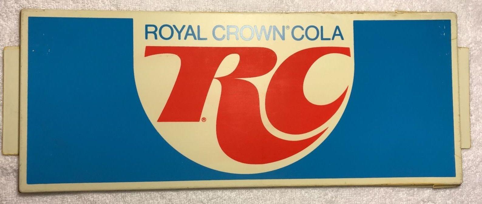 Vintage 1970's RC Cola Plastic Sign Inset Royal Crown Vending Machine SIGN