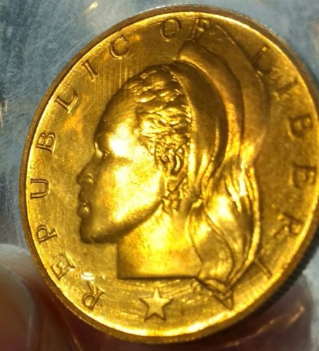 Republic of Liberia dollar coin 1970