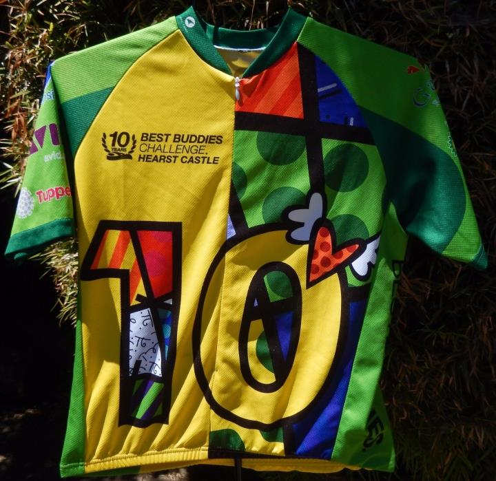 PACTIMO 10TH ANNIVERSARY BEST BUDDIES CHALLENGE CYCLING JERSEY US MENS SZ XS EUC
